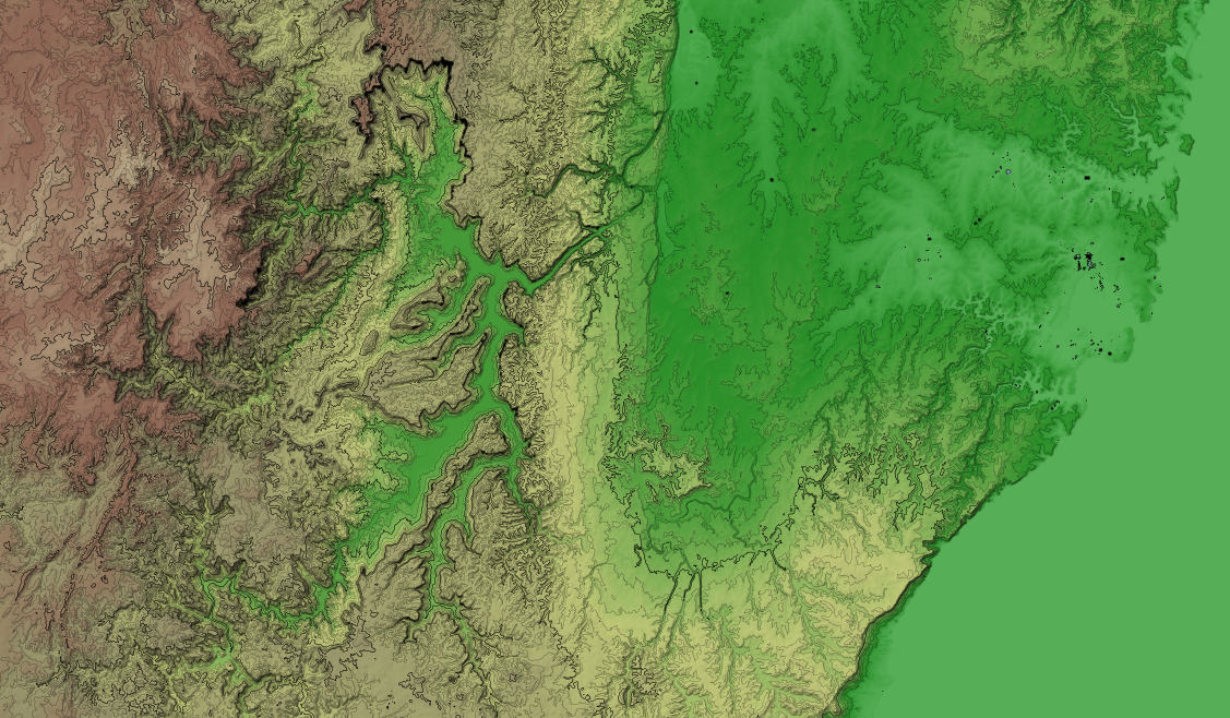 A free and open source srtm shaded relief and contour map andrew contour map gumiabroncs Images